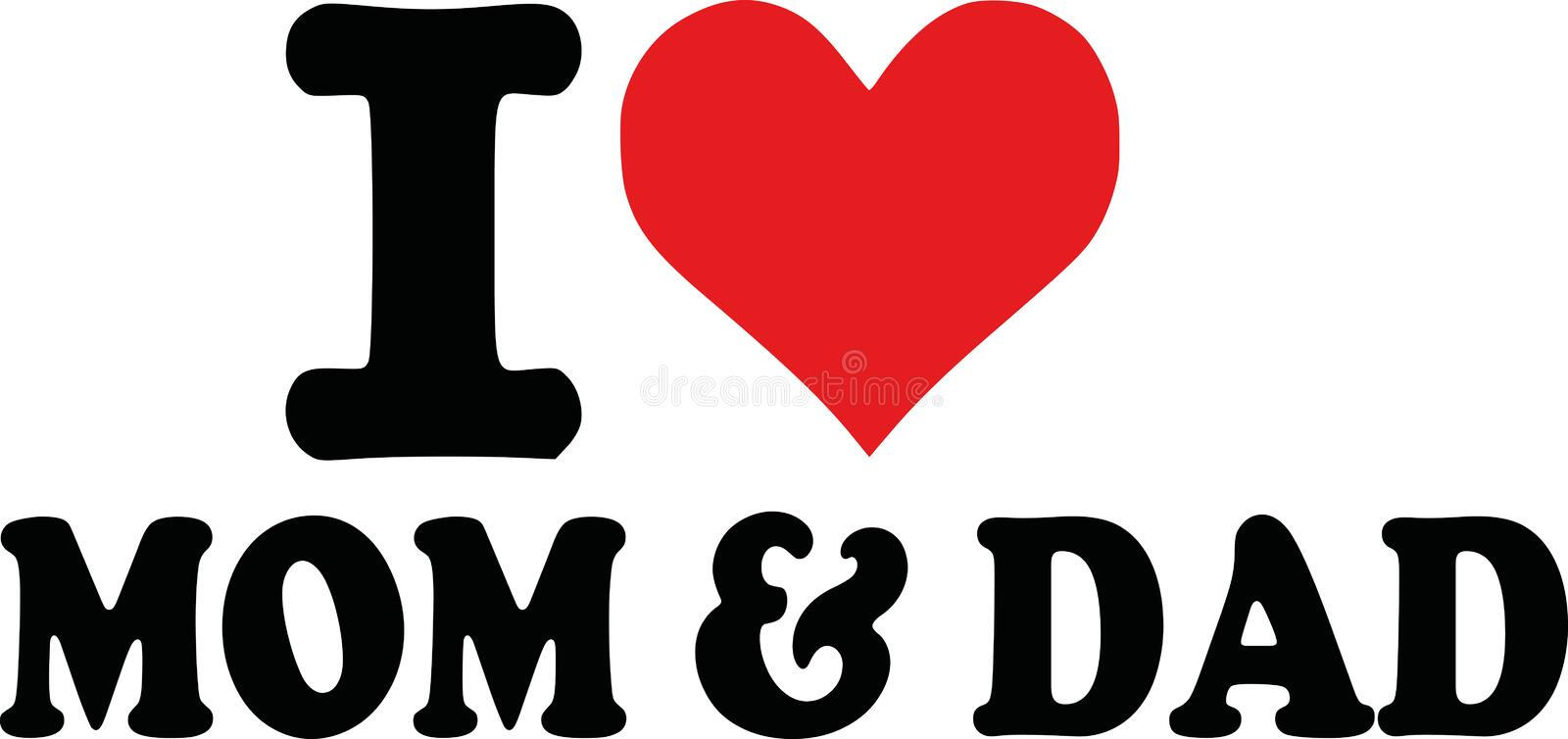 i love mom dad i love mom dad vector 107173927