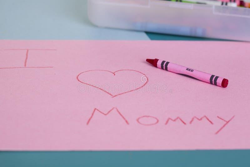 I Love Mommy stock image