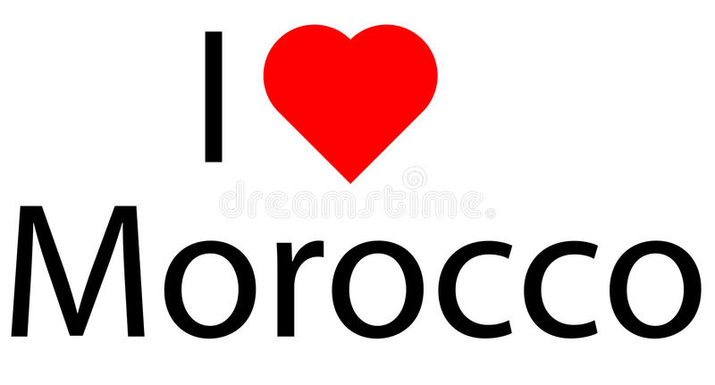 I love Morocco stock photo