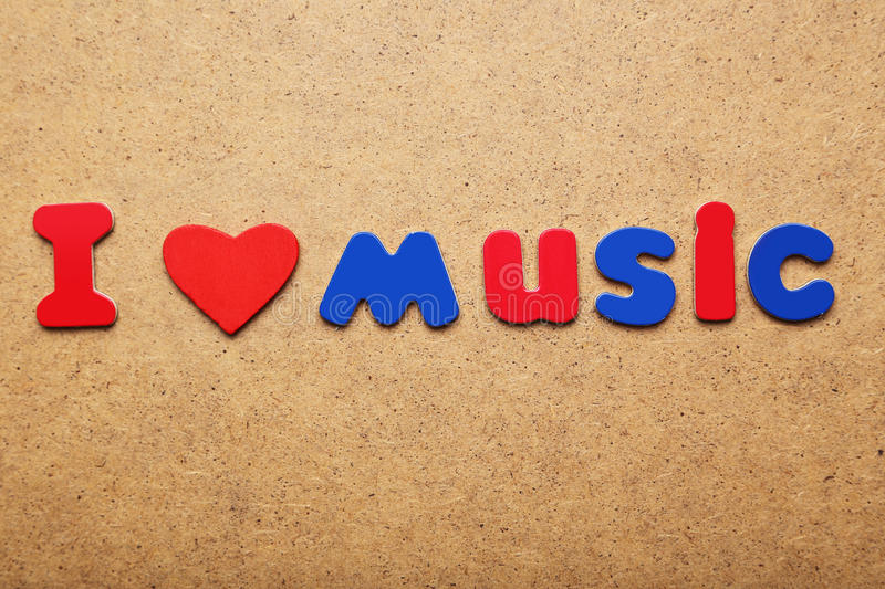 I love music word stock images