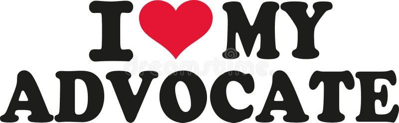 I love my advocate. Vector vector illustration