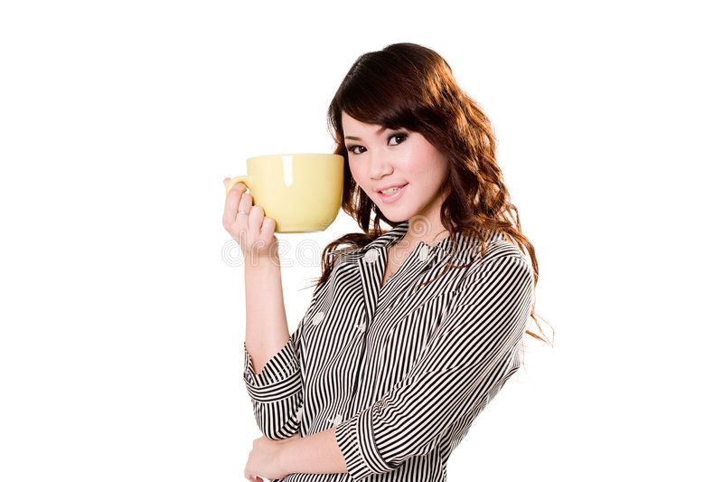 I love my big cup royalty free stock image