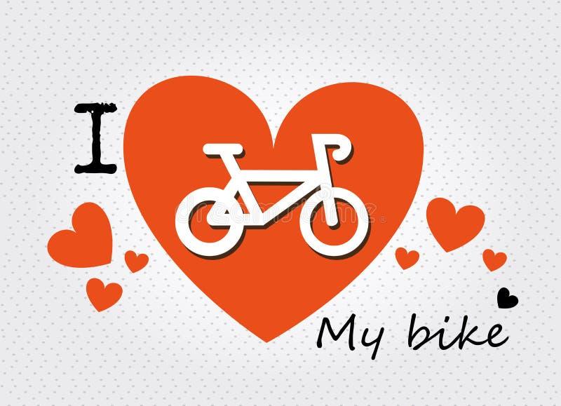 I love my bike stock illustration