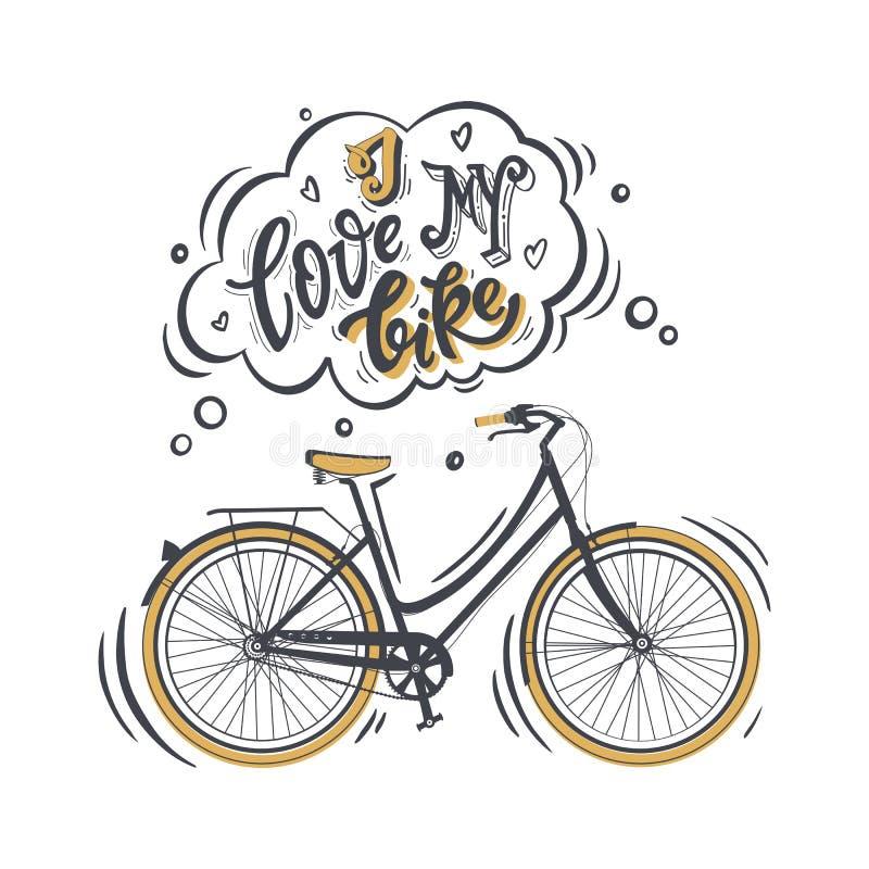 I love my bike royalty free illustration
