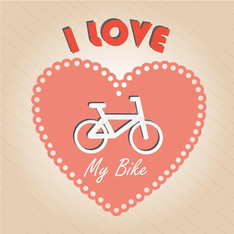 I love my bike vector illustration