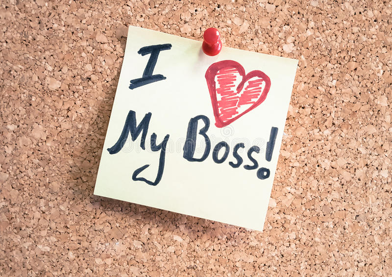 Download I Love My Boss Corporate Photography Stock Image