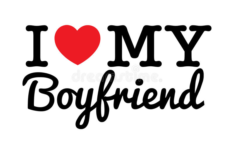 I Love My Boyfriend Stock Vector. Illustration Of Heart