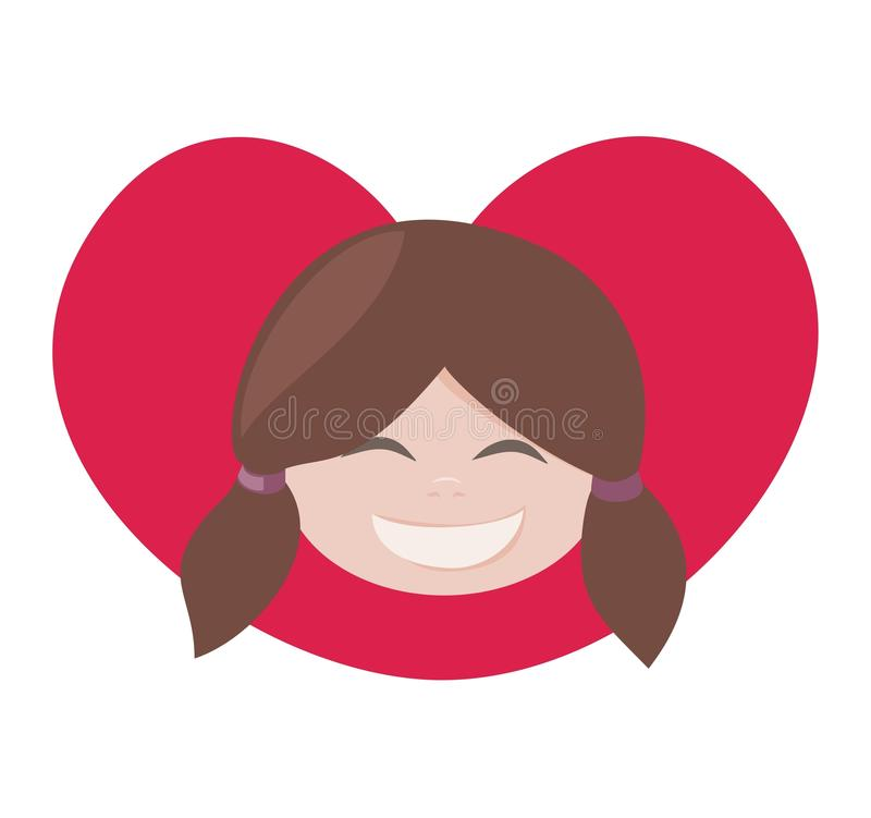 I love my brunette lovely girl with all my heart royalty free stock photo