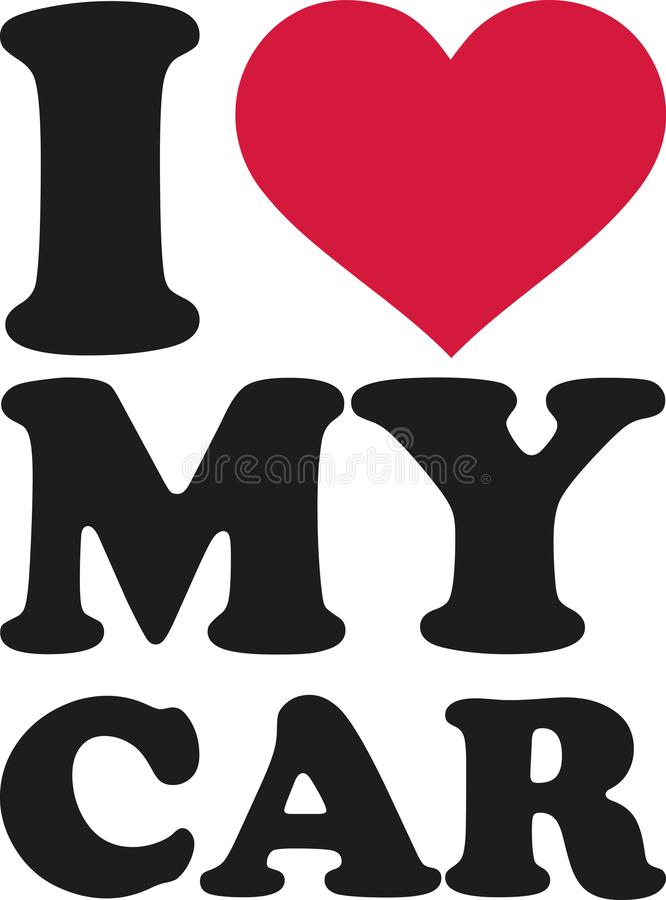 I love my car royalty free illustration