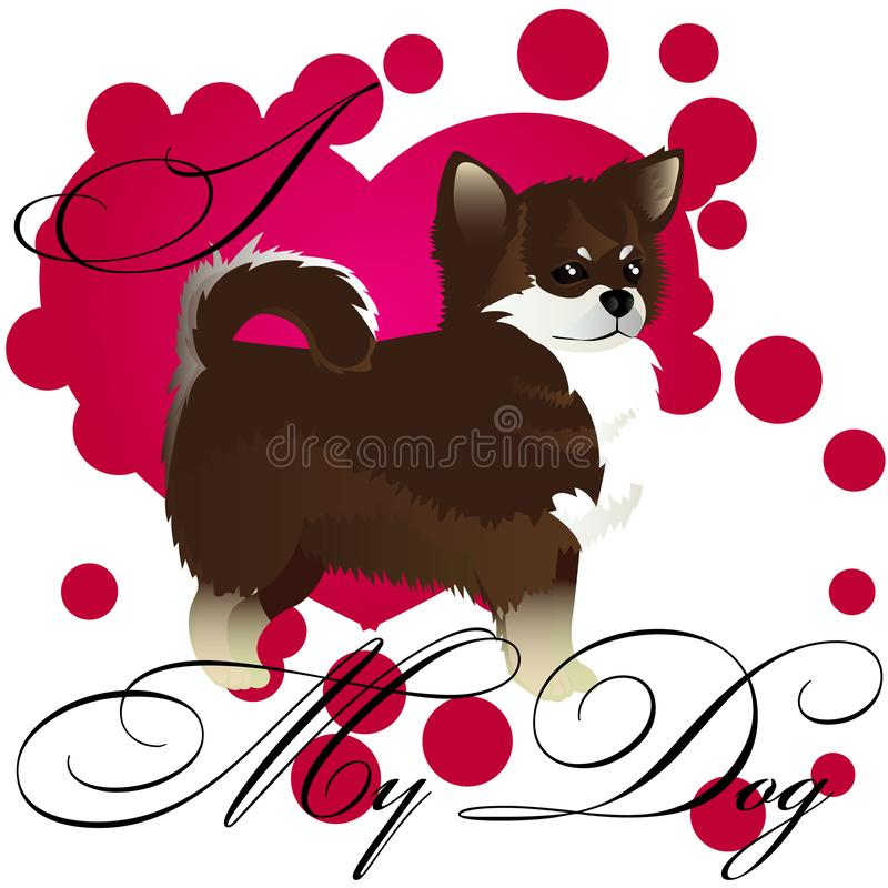 Download Chihuahua wallpaper stock illustration. Illustration of ...