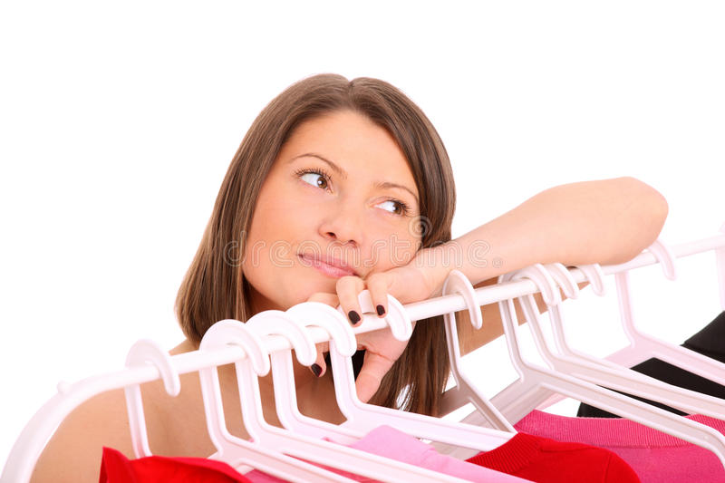 Download I love my clothes stock photo. Image of problem, wardrobe - 24396640