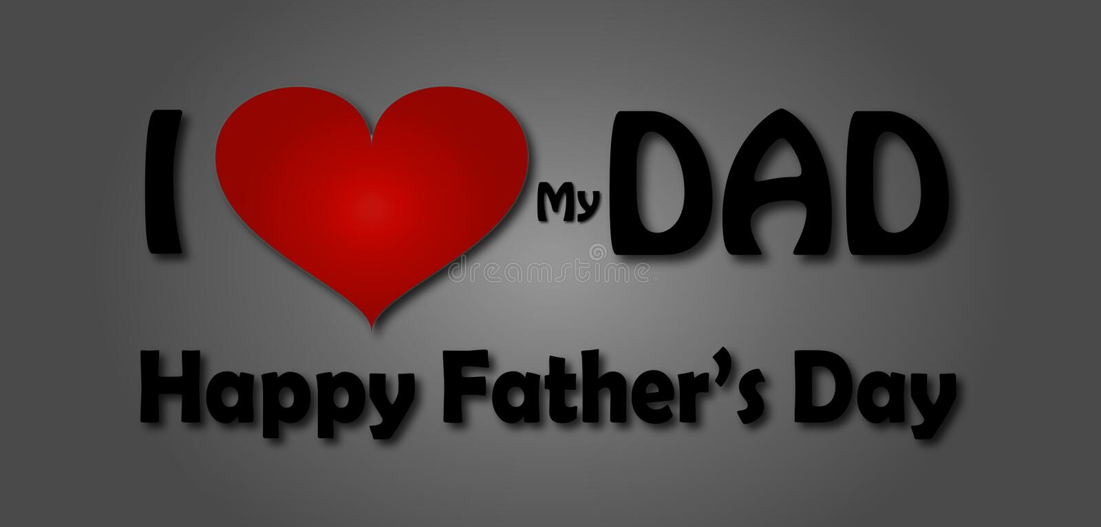I love my dad happy father s day greeting big heart - I love you daddy download ...
