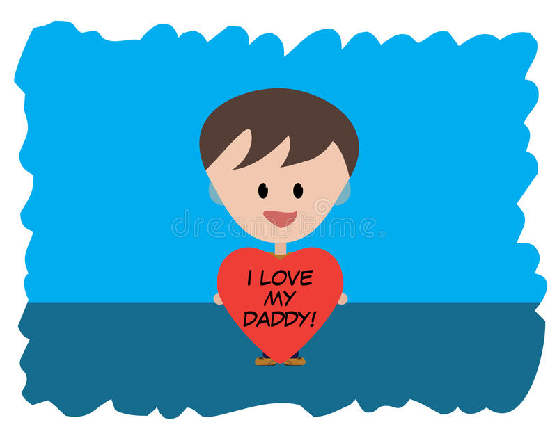 Download I Love my Daddy stock illustration. Image of cyan, father - 29697893