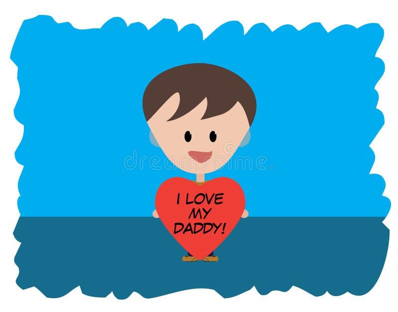 I Love my Daddy stock photos
