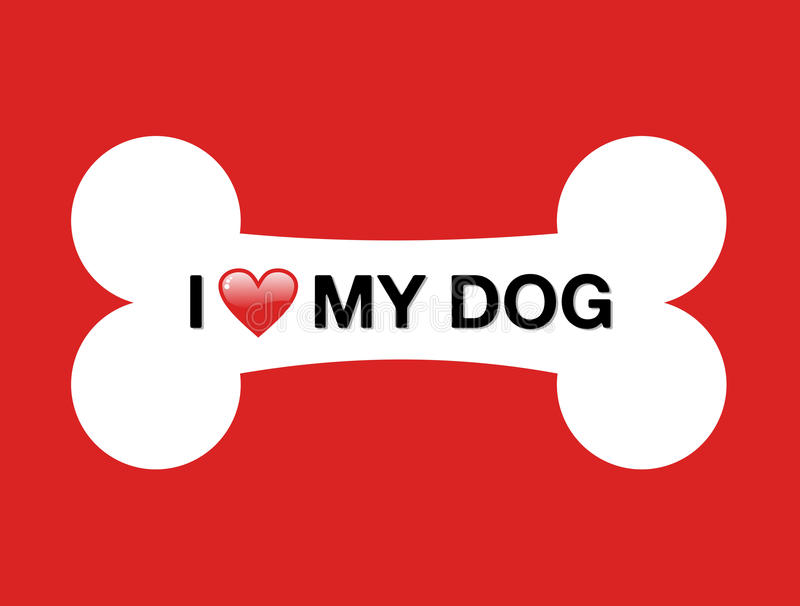 Download I love my dog cartoon bone stock vector. Illustration of ...