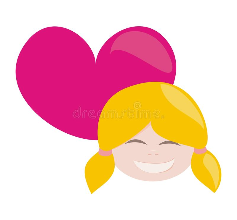 Download I Love My Happy Blond Girl With All My Heart Stock Vector - Image: 20775195