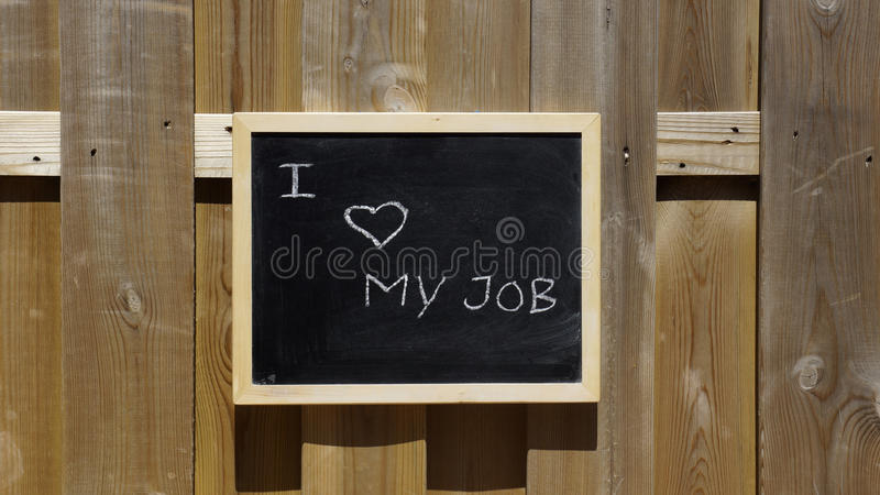 I love my job outside. In the summer sun royalty free stock photography