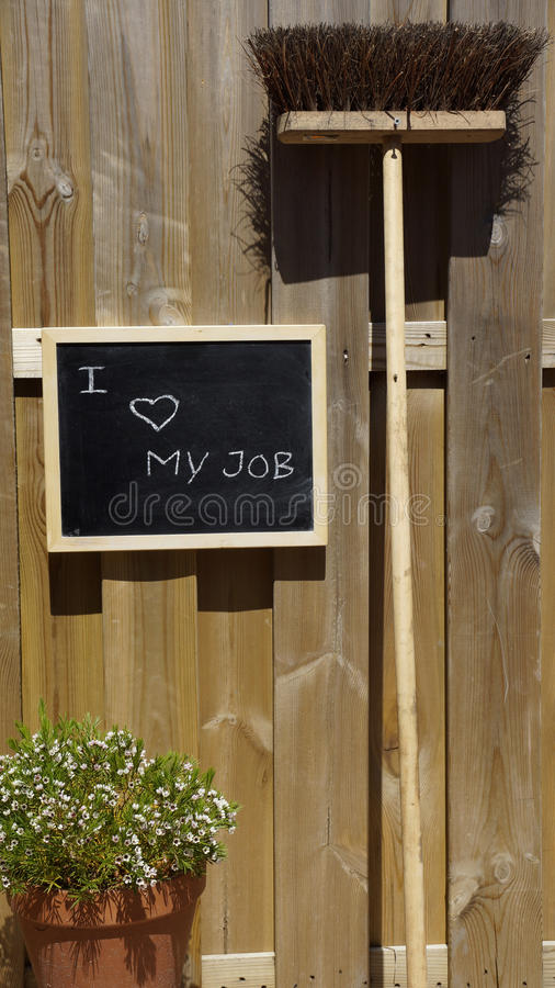 I love my job outside. In the summer sun royalty free stock photos