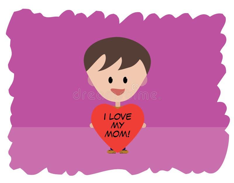 I Love my mom stock photo
