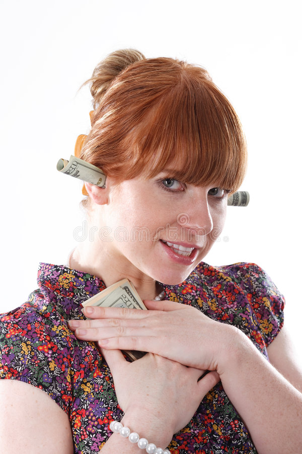 Download I love my money stock photo. Image of mine, female, greed - 7104620