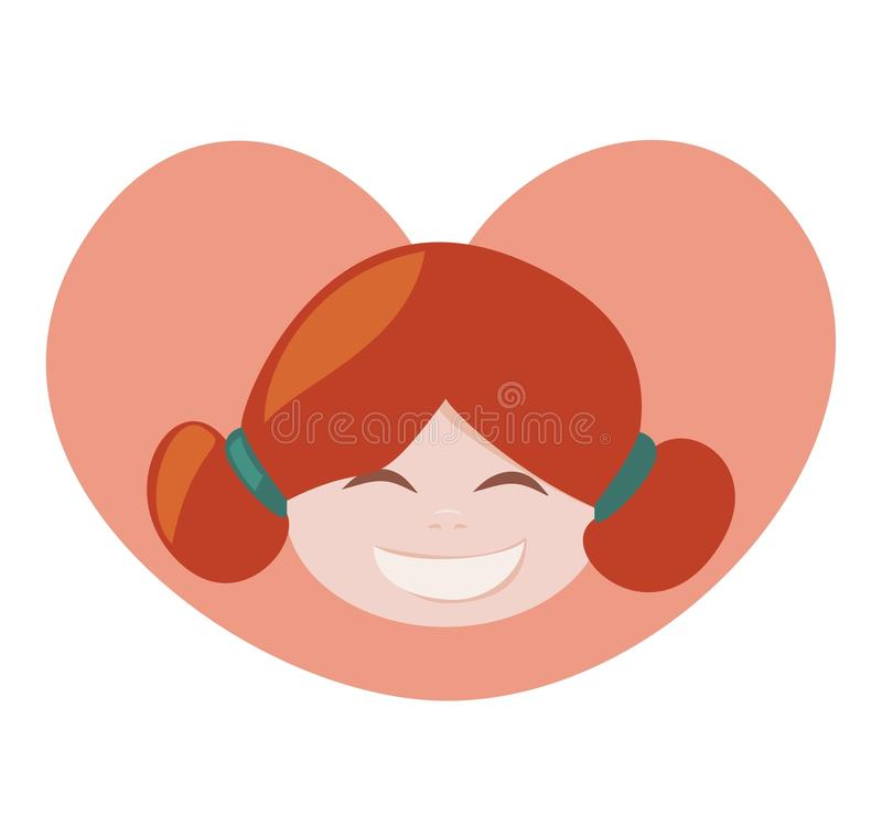 I love my redhead lovely girl with all my heart stock photo