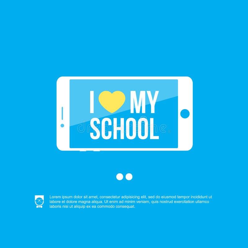 Download I love my school stock vector. Image of banner, background - 32687861