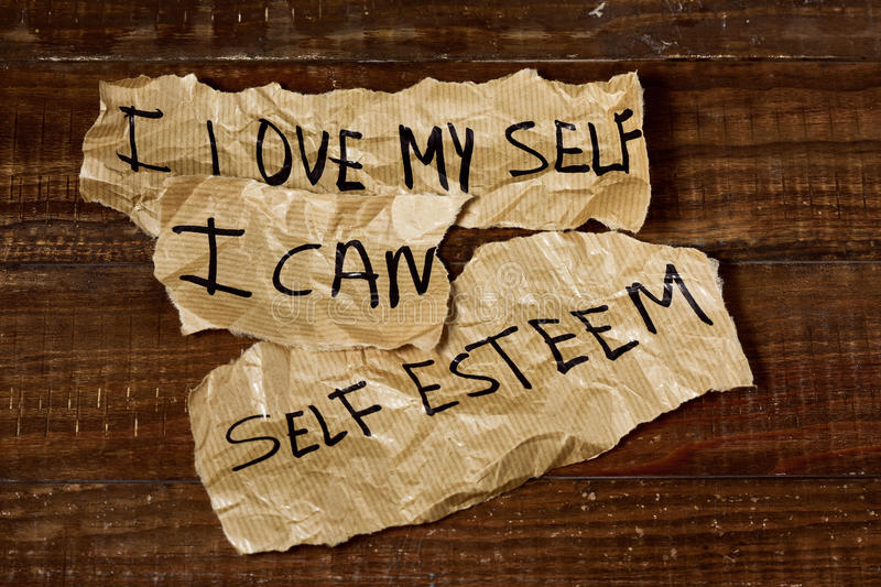I love myself, I can, self esteem royalty free stock images