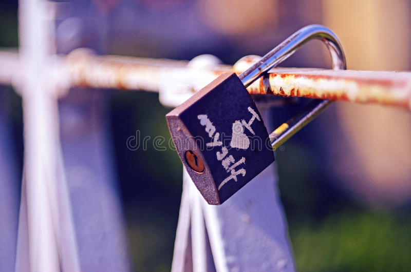 Love. Lesson number one in life. Love yourself royalty free stock photography