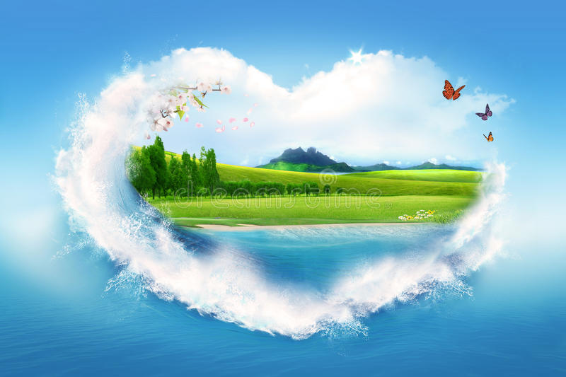 Download I love nature stock image. Image of love, ecology, nature - 20504793