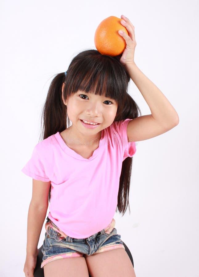 I love orange! stock image