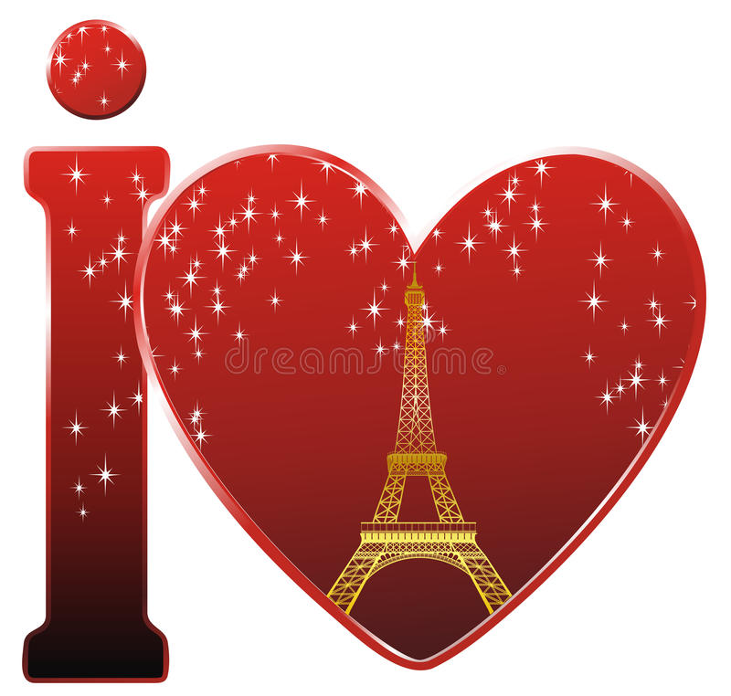 Download I love Paris stock vector. Image of mark, background - 22808403