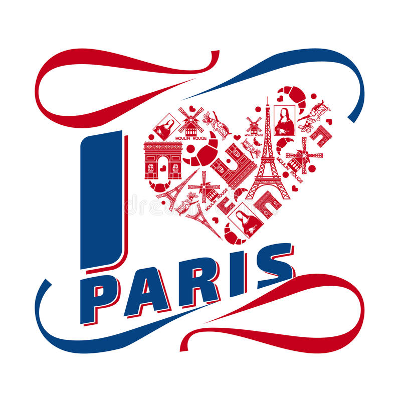 I love Paris stock illustration