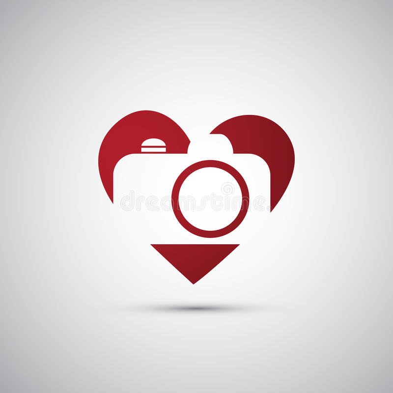 I Love Photography - Camera Icon Design stock illustration