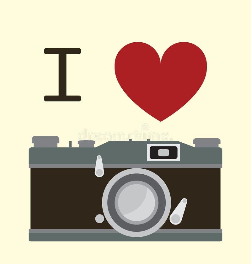 I Love Photography stock illustration