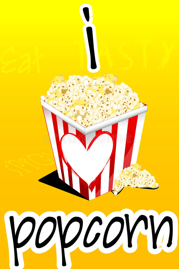 I love popcorn stock illustration