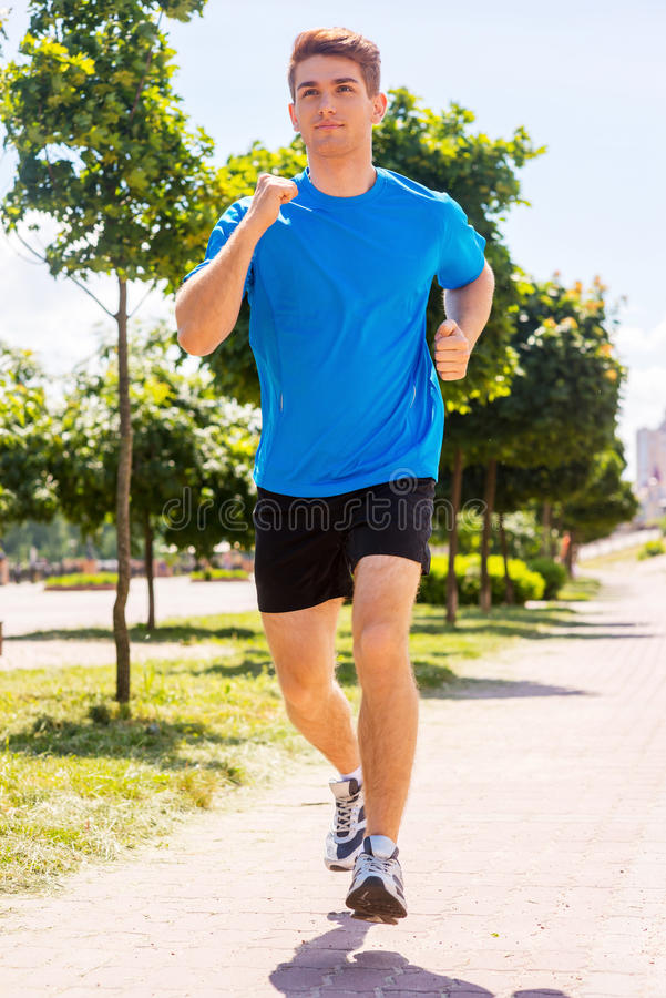 I love running. stock images