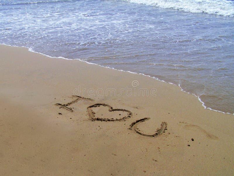 i love sand you στοκ φωτογραφία με δικαίωμα ελεύθερης χρήσης