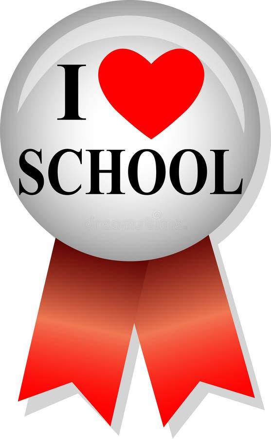 I Love School Button/eps Stock Photos