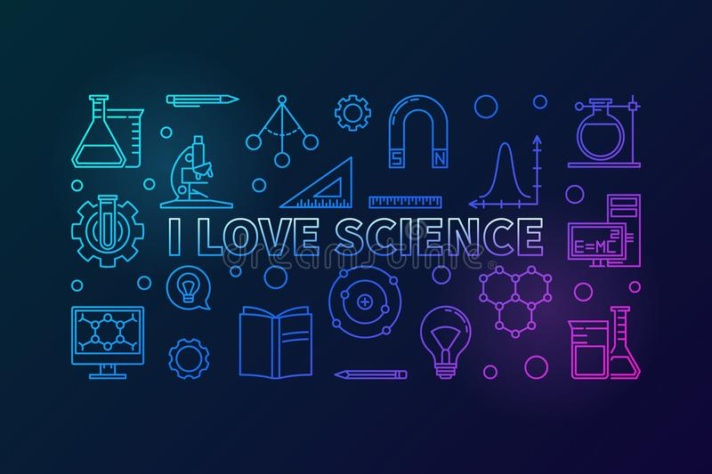 Download I Love Science, Pattern With Square Frame, Flask And Tubes ...