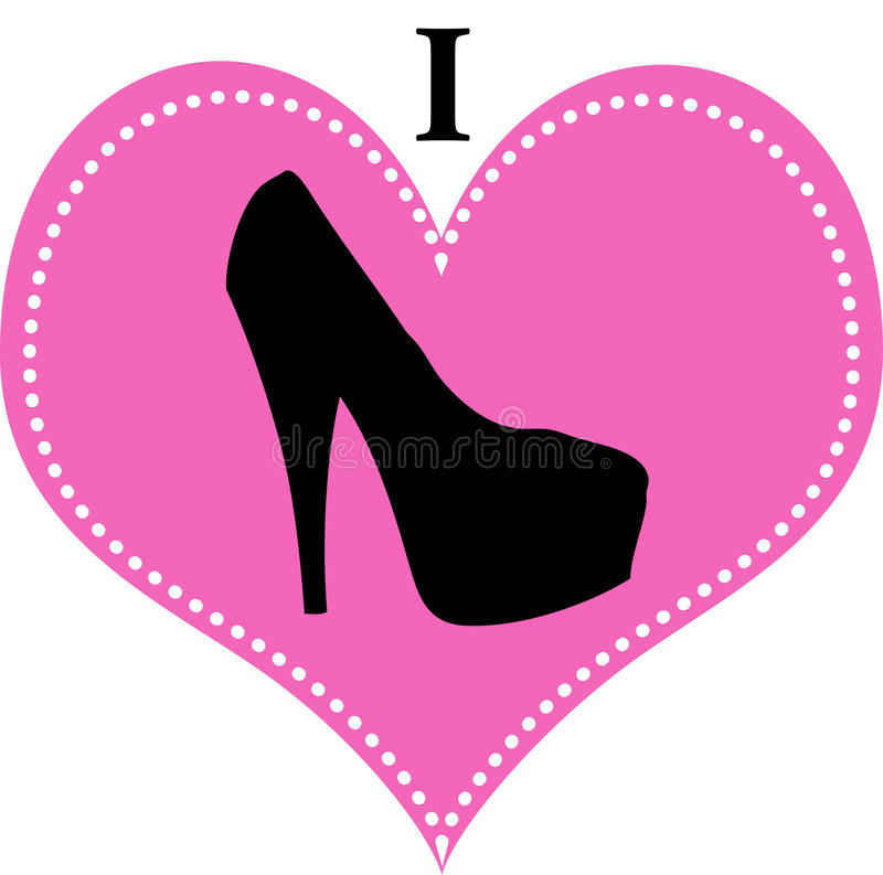 I Love Shoes High Heel Royalty Free Stock Photos
