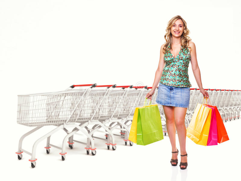 Download I love shopping stock photo. Image of lady, consumerism - 20303100