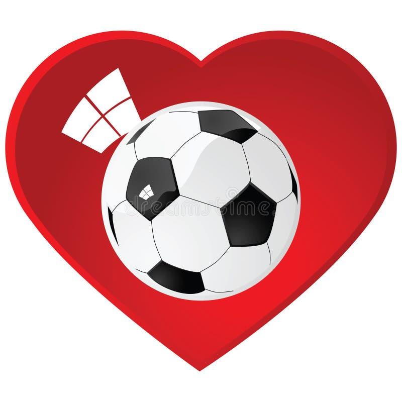 Download I love soccer stock vector. Illustration of glass, love - 10125355