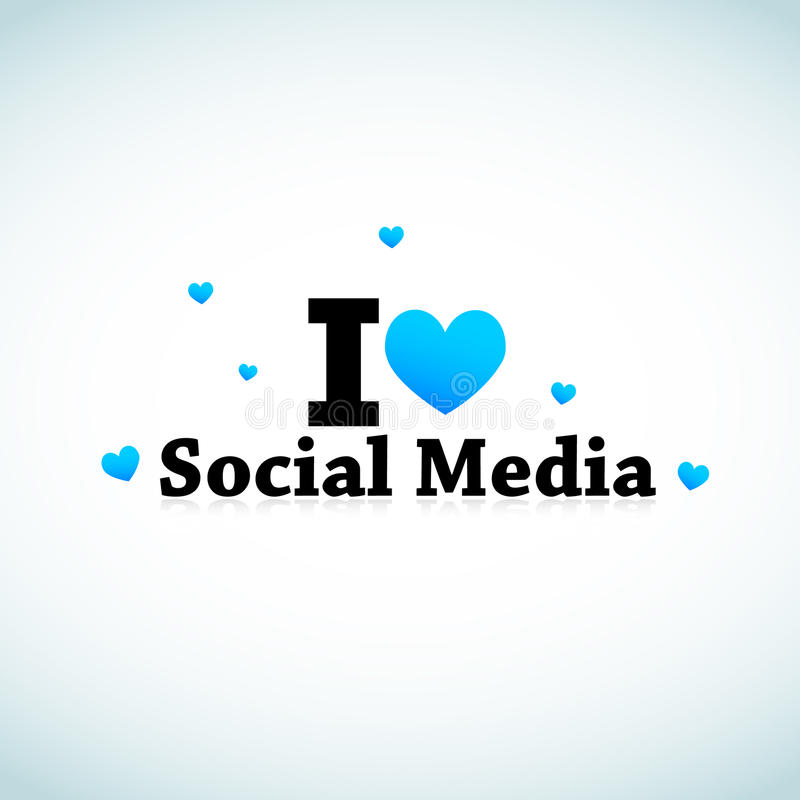 I Love Social Media royalty free illustration