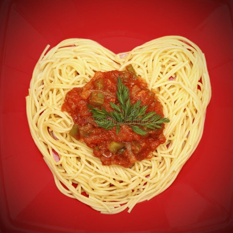I love spaghetti! stock photos