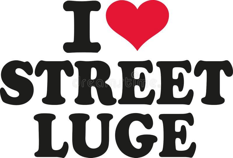 I love street luge stock illustration