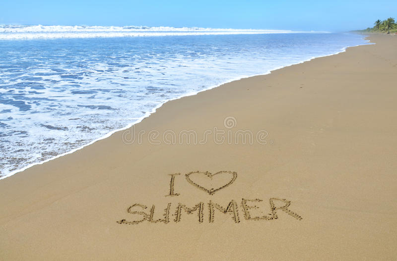 I love summer royalty free stock image