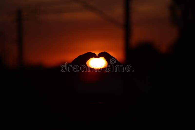 I love sun stock image