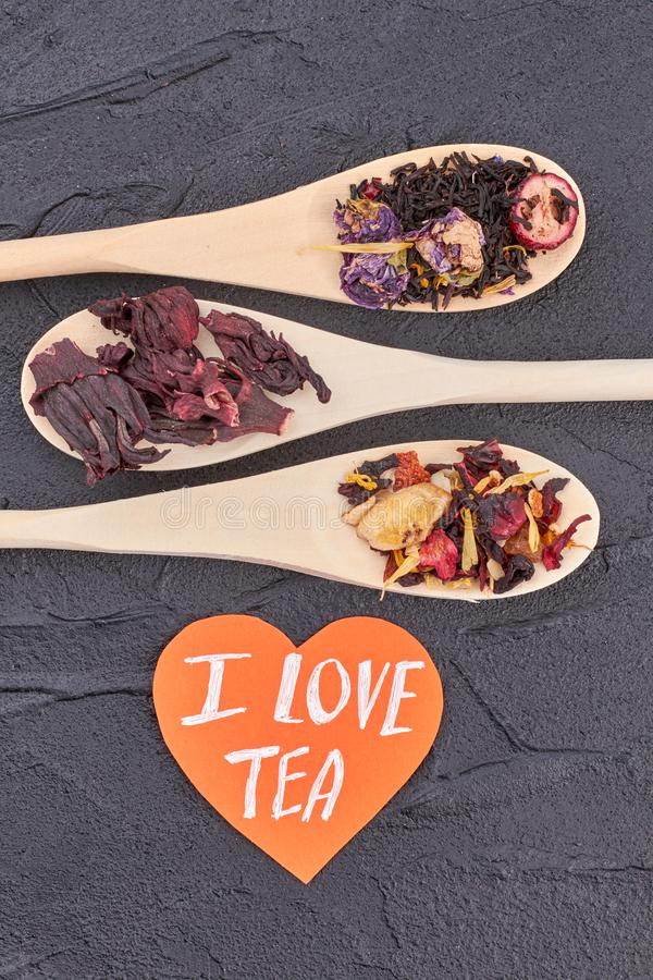 I love tea concept. royalty free stock images