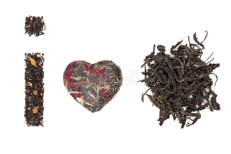 I love tea. tea collection. royalty free stock photo
