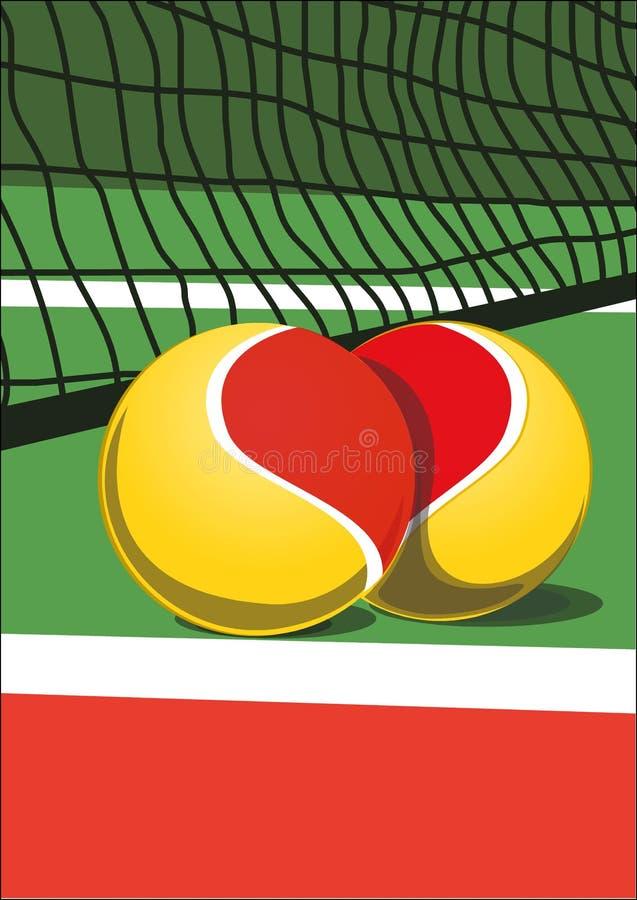 Download I love tennis stock vector. Image of healthy, tennis - 14059429